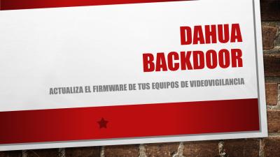 Dahua Backdoor